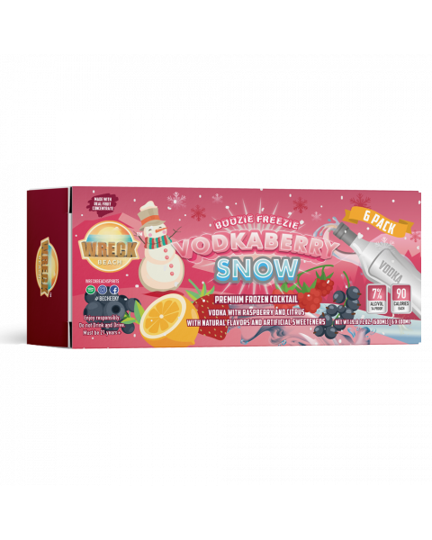 Boozie Freezies Vodkaberry Snow 6-Pack